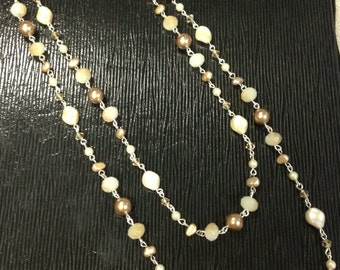 Handmade Swarovski Crystal and Pearl Necklace
