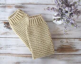 Womens Boot Socks | Ankle Warmers | Knee High Socks | Leg Warmers Women | Toeless Socks | Crochet Leggings