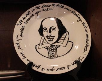 William Shakespeare Plates (set of 2)