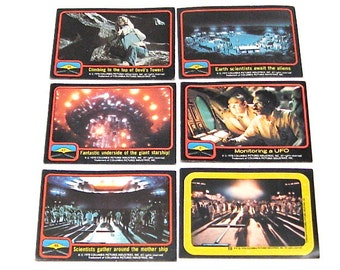 Vintage Close Encounters Trading Cards c1978