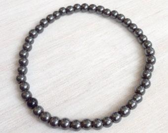 Hematite 4mm bracelet