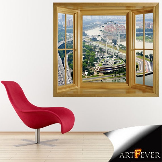 Items similar to wim212 marina bay f1 track window for Bay view wall mural