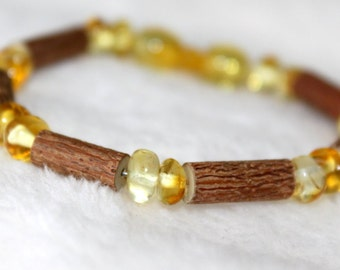 Therapeutic Hazelwood and Amber Bracelet - Infant and Children's Hazelwood