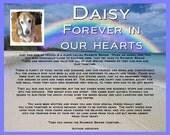 Personalized Dog Pet Memorial Rainbow Bridge Poem Pet Memorial Pet Dog Memorial 8 X 10 Print