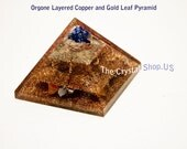 Orgone Layered Gold Leaf and Copper Pyramid Strong protection. Most powerful way to raise your vibration!