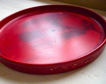 Vintage 1970  Paavo Asikainen Finland Studio Work, Hand Turned Wooden Plate