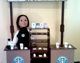 American Girl Sized Starbucks Restaurant Playset