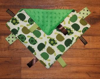 Green Turtles Security Blanket