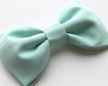 Mint Hair Bow - Mint Bow Tie - Mint Green Hair Bow - Mint Green Bow Tie - Green Hair Bow - Green Bow Tie