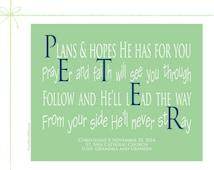 Inspirational Christian Poems, Christian Art, 8x10 Paper Print, Peter