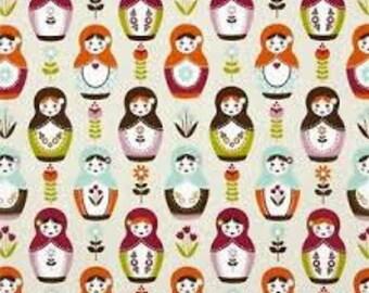 1 yard of Riley Blake Little Matryoshka Dolls