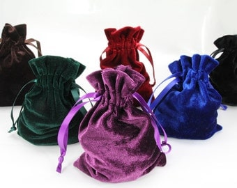 "10pcs Jewelry Velvet 4""x6"" Bags Drawstring Pouches Gift Wedding Favors Medium"