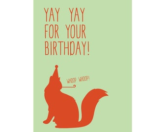 A6 Greeting Card - Yay Yay for your Birthday!