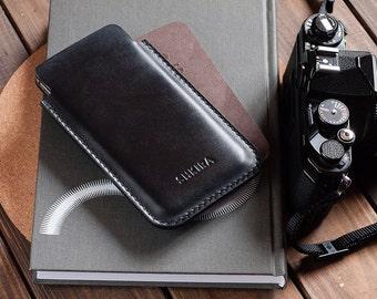 Black Horween Chromexcel iPhone 6 Plus Leather Case Sleeve