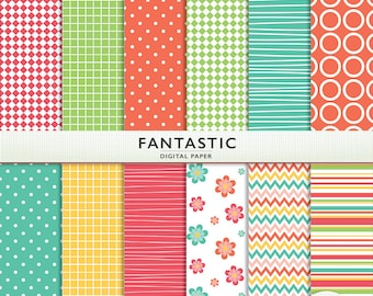 Fantastic Digital Paper - Scrapbooking Card Making  Personal  and Commercial  Instant Download & Printable G7516