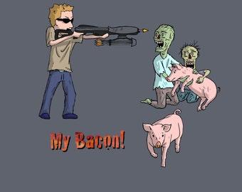 Zombie shirt- My Bacon