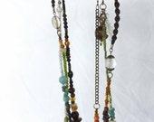 Precious Stones Bohemian Wrap Necklace with Shells Yoga Hasma Jewelry