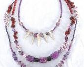 Macrame Stone Bead Necklace Yoga Bohemian Jewelry Gypsy Bead Necklace