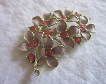 Vintage Designer Sarah Coventry Large Floral Branch Brooch