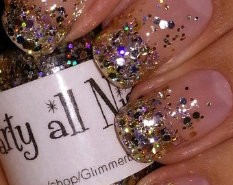 Party All Night handmade custom nail polish