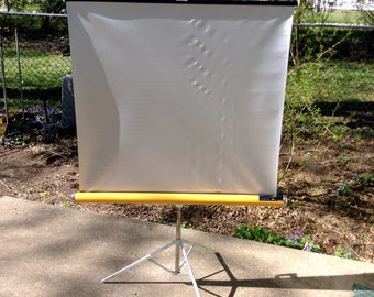 Vintage Portable Movie Screen - Makes great Room Divider or Backdrop