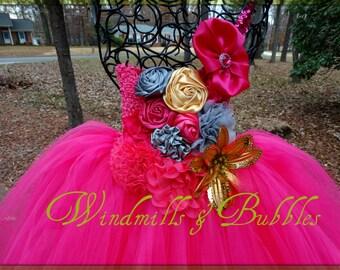 Hot Pink Delight Tutu Dress