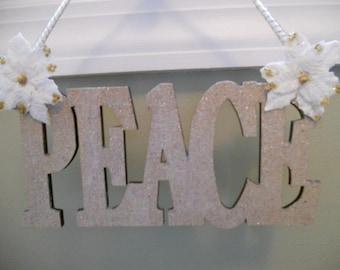 Christmas Peace Sign Decoration