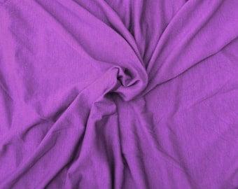 Hemp Spandex Jersey  Knit Fabric by the Yard VIOLET  Apparel Soft Jersey Stretch Fabric