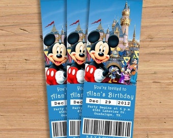 Print - Mickey and Friends Tickets