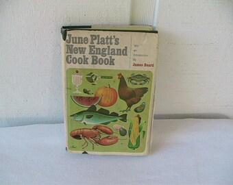 New England Cookbook June Platts Retro Vintage Cook Book Regional Cooking James Beard Antique Discoveries