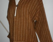 cambrian striped  wool shirt  made in wales  british  100% new wool  and warmth hipster boho  comfort