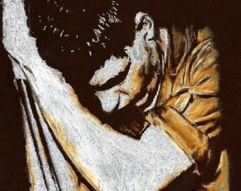 Original A4 drawing of Ian Curtis