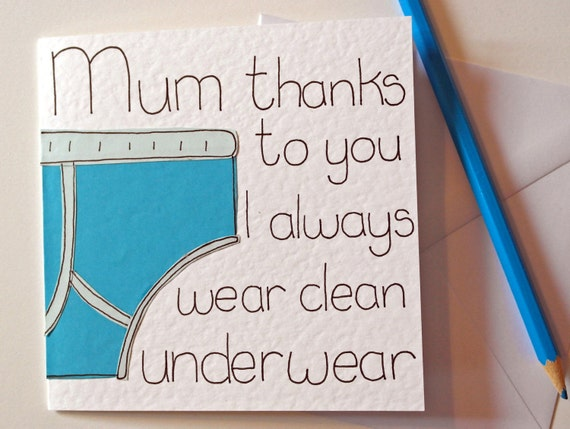 Mothers Day card Mum funny birthday card for Mom greeting – Funny Birthday Card for Son