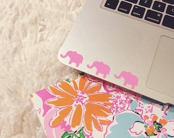 Three Pink Elephants Laptop Decal - Elephant Decal - Elephants - Laptop Decal - Car Decal - iPad Decal - Pink Decal - Preppy Stickers