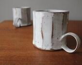 Fluted Creamy White Mug