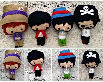 Felt Collectable FairyTale Guys Made To Order - Handmade Felt Doll