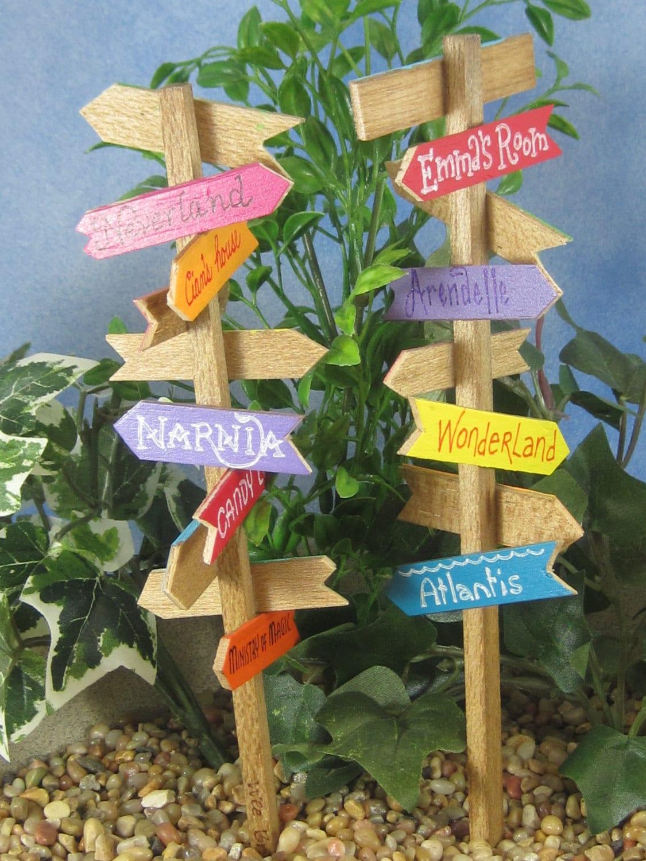 Signpost For Fairy Gardens OOAK Handmade