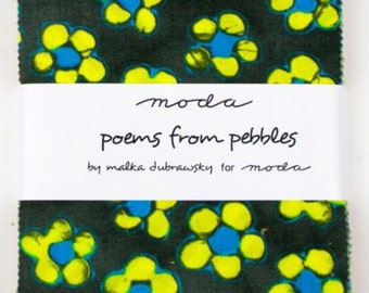 Poems From Pebbles Charm Packs by Malka Dubrawsky for Moda