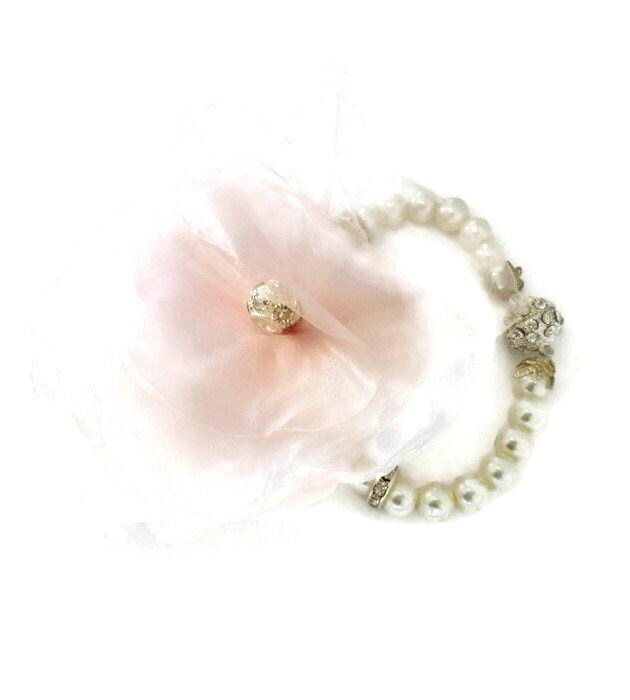 wedding wrist corsage bridal corsage bracelet by