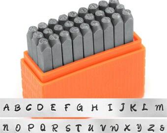 ImpressArt- Basic Bridgette Metal Stamp Set - Uppercase
