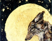 Coyote Moon Card / Print Christmas Card
