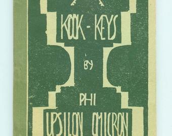 Vintage Kook-Keys Recipe Cookbook by Phi Upsilon Omicron (ΔΤΑ) Phi-U of North Dakota State College (NDSU) 1930 RARE
