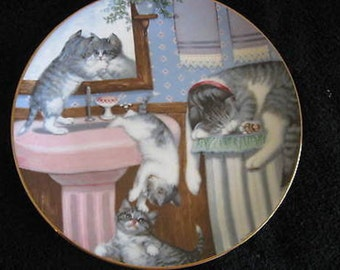 Hamilton Collection Plate Country Kitties 1988 Mischief Makers CL14-3