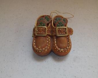 Ceramic Irish Leprechaun Trinket Shoe Box