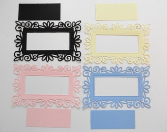 Ornate Dainty Rectangular Cut Out Frame Set of 8