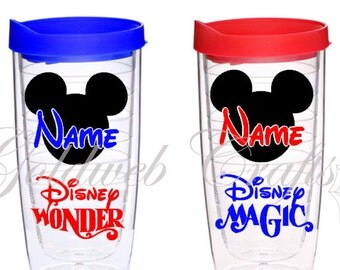 Disney Cruise Line Tervis Style Inspired with your name in Mickey Head Pacific Acrylic Tumbler 16 oz