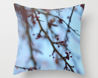 Tree Blooms Pillow Cover - Cover Only - Original Photograph Tree Blooms - Nature Photograph -  Made to Order