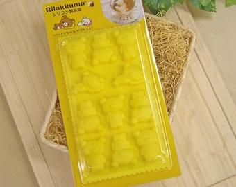 Ice Tray Mold Rilakkuma San-X Cute Bear ice cube Silicone Mold