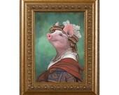 Pig Magnet, Lady Piggy, Cute Pig Gifts, Pig Kitchen Decor, Pig Gifts
