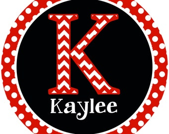Iron on Transfer DIY - Childrens Personalized Shirt Iron On - Custom Personalized Name Iron on -  S is for Skypie - Red & Black